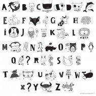 A little lovely company - Letter Set ABC black