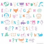 A little lovely company - Letter Set ABC pastell