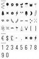 A little lovely company - Letter Set Zahlen und Symbole