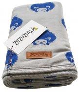 "ZEZUZULLA – Babydecke ""Blue Hedgehog"" 85 x 85 cm"