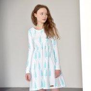 ZEZUZULLA Kleid Woman Turquoise Grain Lo'w Dress